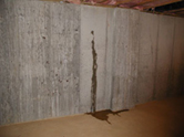 Leaking, cracked basement wall