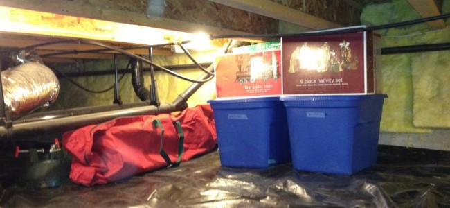 Crawl Space Waterproofing and Holiday Decorations