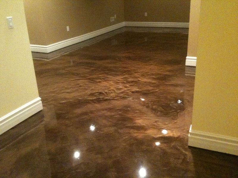 Epoxy basement floor bringing life to a hitherto for Basement flooring ideas pictures