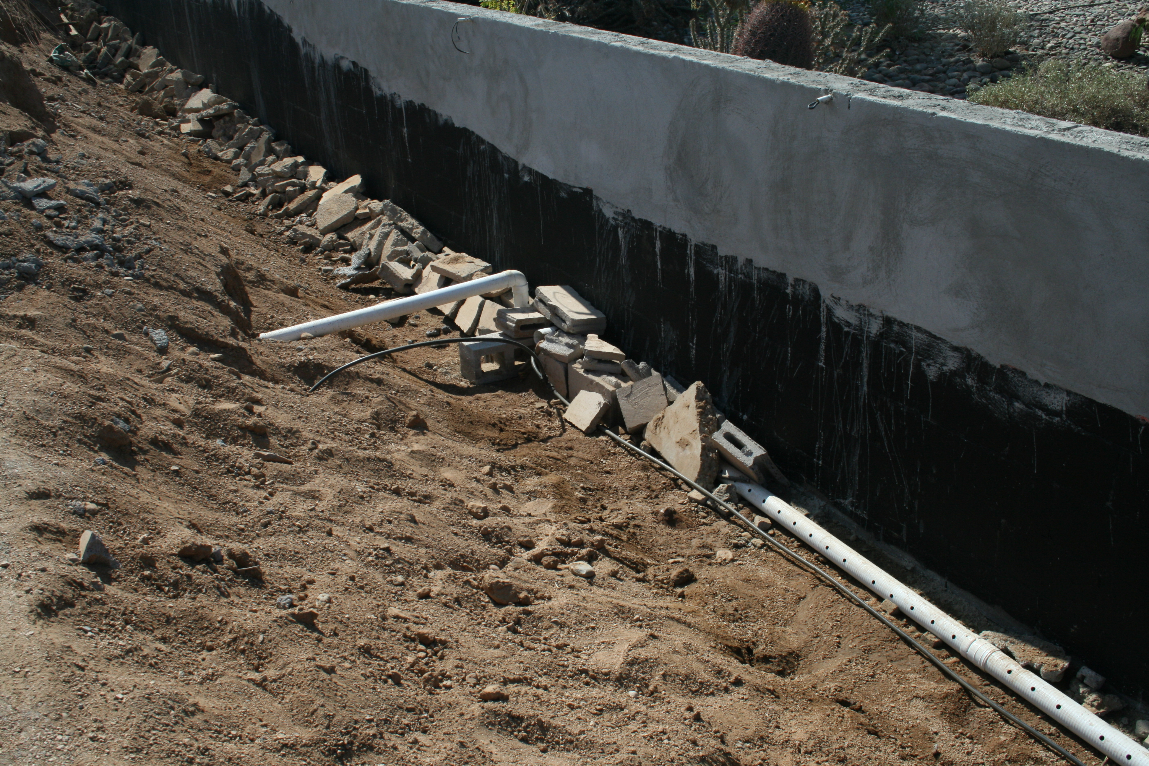 Screw Up A French Drain Installation Am Shield Waterproofing