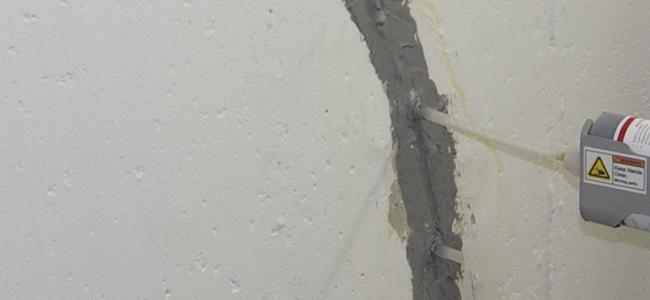 Urethane Crack Injection for Foundation Crack Repair