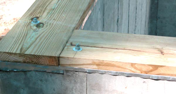 Wood Basement Drainage : Sill plate drainage system in albertson ny am shield
